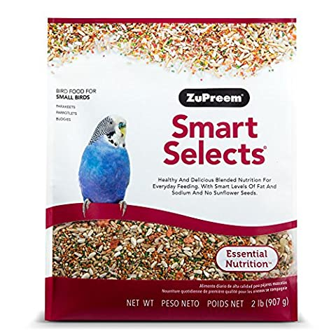 ZuPreem Smart Select Premium Nutrition Pet Daily Bird Food for Parakeet 2lbs