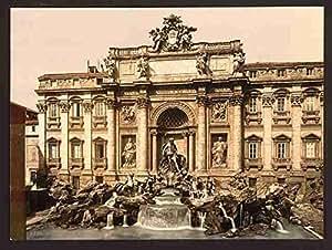Plaque métal-Fontaine de Trevi Rome A4 12 x 8 en Aluminium Motif