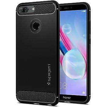 online retailer c0dac c366a Spigen [Rugged Armor] [Black] Case for Honor 9 Lite, Original Patent Carbon  Fiber Design/Drop Protection Shock Absorbent Phone Cover for Honor 9 Lite  ...