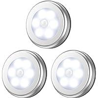AMIR Lampe Détecteur de Mouvement, Lampe LED Detecteur Placard, Lampe Escalier, Lampe d'armoire, Alimenté par Batterie…