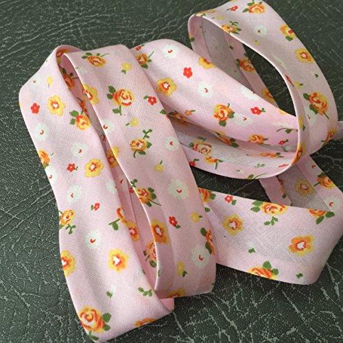 2320colore rosa con motivo di alta qualità Bias Binding 25mm largo 100% cotone con Nice Soft Feel-venduto al metro