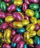 Huevos de Pascua de Chocolate de Leche Sólidos Forrados en Aluminio x 1kg (Aproximadamente 200...