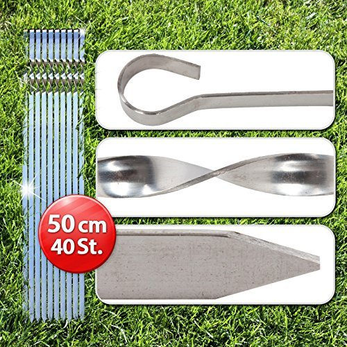 40 Schaschlikspieße 50 cm, Mangal Edelstahl Schampur Grillspieße Fleischspieße 1,5 mm dick