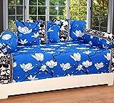 #10: Zain 3D Diwan Set of 8 pieces, Blue Flower Design