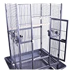 FoxHunter Large Metal Bird Cage Stand For Parrot Macaw Budgie Canary Finch Cockatiel Aviary Lovebird Parakeet With Wheel… 13