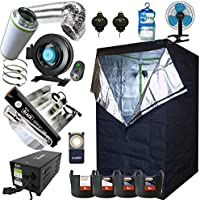 "Best Complete Grow Room Full Setup 1.2 x 1.2 x 2m Grow Tent 5"" In-Line Fan, Carbon Filter 600w PRO Light Kit Hydroponics"