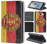 CoverHeld Hülle für Samsung Galaxy S8 Premium Flipcover Schutzhülle aus Kunstleder Flip Case Motiv (1049 Flagge DDR Ostdeutschland Zone)