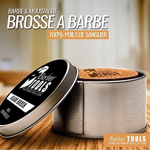 ✮ BARBER TOOLS ✮ Kit / Set / Estuche de arreglo y cuidado de la barba. Peine para barba + Cepillo para barba 100% pelo de jabalí + Pena de precisión + Tijeras de precisión + Tijera con barba + Peine para barba con perfilador + Capa de barba + Shavette + 5 cuchillas dobles + funda grande con cierre de cremallera. El regalo ideal para los hombres con barba.