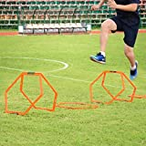 Sportneer Hexagonal Speed and Agility Training Aid Rings 6 Pieces with Carrying Bag