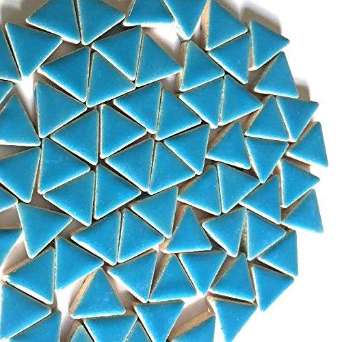 Craft Carreaux de mosaïque en céramique émaillée Triangles – Thalo Bleu