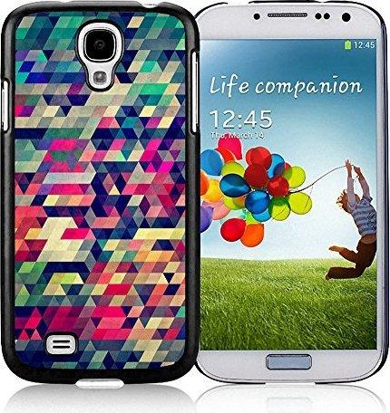 SHUAIJA Retro Geometrische Dreiecke Schwarz für Samsung Galaxy S4Handy Cover