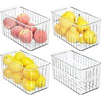 mDesign boite frigo en plastique (lot de 4) – boite alimentaire sans couvercle – boite de rangement frigo avec…