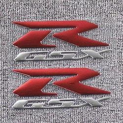 MUJUN Reserve for Suzuki GSXR 600 750 1000 K1 K2 K3 K4 K5 K6 K7 K8 K9 Motorrad 3D-Reflective GSXR Emblem Fairing Kit Side-Aufkleber-Abziehbilder