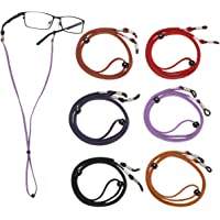 LAOYE Cinturino per Occhiali da Vista Regolabile, Occhiali da Vista in Pelle Premium da 70 mm Corda di Fissaggio per…