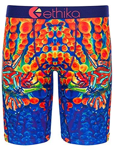 Ethika Blue-Orange Glowfish Boxer Shorts