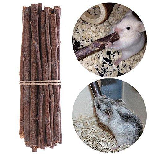 himolla Syrische Hamster Gerbil Rat Chinchillas Guinea Pig Eichhörnchen Hase Holz Sticks Zähne kauen Spielzeug Käfig Spielzeug Kleintiere Spielzeug 50g (Kauspielzeug)