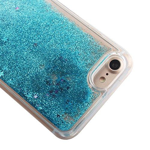 Custodia per iPhone 7 Case,Cover per iPhone 7,TOYYM - Love Heart Star Crystal Case Cover, Resistente Chiaro Trasparente [Bling Liquid] con divertente liquido flottante 3D con lussiosi glitter per iPho Color 4#