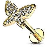 Trendy-Sandy Piercing per trago, a forma di farfalla, orecchino per orecchio, ciondolo helix, #659
