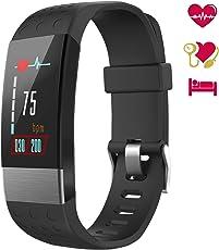 Fitness Tracker, WiMiUS Orologio Braccialetto Fitness Watch Schermo a Colori Cardiofrequenzimetro Uomo Donna Impermeabile IP67 Pedometro da Polso Activity Tracker Smartwatch per iOS Android (Nero)