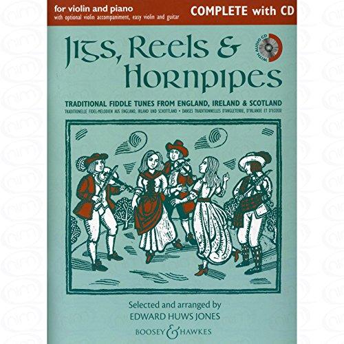 JIGS REELS & HORNPIPES - arrangiert für Violine - (für ein bis zwei Instrumente) - Klavier - mit CD [Noten/Sheetmusic] Bonny Flower Girl