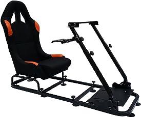 FK-Automotive Game Seat Spielsitz für PC und Spielekonsolen Stoff schwarz/orange