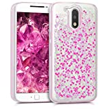 kwmobile Motorola Moto G4 / Moto G4 Plus Hülle - Handyhülle für Motorola Moto G4 / Moto G4 Plus - Handy Case in Pink Transparent