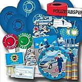 Unbekannt Kindergeburtstag Polizei Partyset XXL