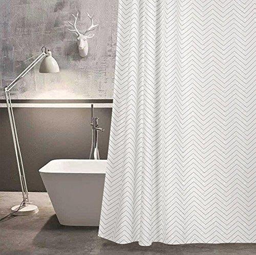 HETAO Elegant American Scandinavian Waterproof Thickening Mildew Bathroom Curtain