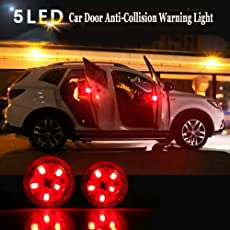 THE. Wireless Car Door Open Automatic Red Strobe Warning Light For Anti Collision