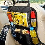 Rymerce 2 PACK Car Back Seat Organiser Kids with Tablet Holder iPad Kick Mat Protector Storage