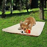 HongGXD Tessuto sfocato Lavabile sfoderabile Morbido e Caldo Cuscino per Letto per Cani Coperta per Animali Domestici Canile per Esterno Lampada per Cani Grande Portatile (Color : Beige, Size : M)