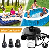Lambony 220-240V/150W Electric Air Pump for Inflatables Paddling Pool Pump with 3 Nozzle