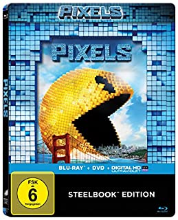 Pixels (2-Disc-Steelbook) [Blu-ray]