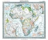 General-Karte von AFRIKA, 1890 [gerollt]: Flemmings Generalkarte, No. 38. Historische Karte mit den Kolonien und Schutzgebiete des Deutschen ... Deutsch-Witu, Deutsch-Somaliküste -