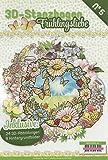 3D-Stanzbogen Stanzmotive Buch Frühlingsliebe Papier Blumen Frühling DIN A4 Format