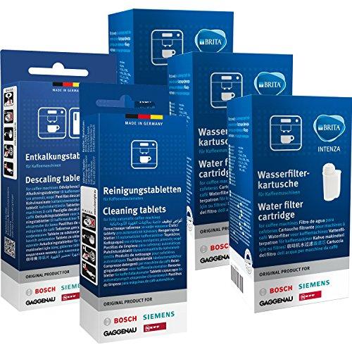 Siemens EQ.series Pflegeset - Entkalker, Reiniger & Wasserfilter Brita Intenza