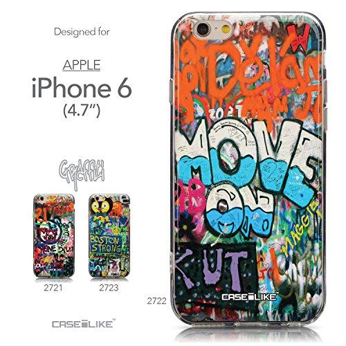 CASEiLIKE Graffiti 2703 Housse Étui UltraSlim Bumper et Back for Apple iPhone 6 / 6S (4.7 inch) +Protecteur d'écran+Stylets rétractables (couleur aléatoire) 2722