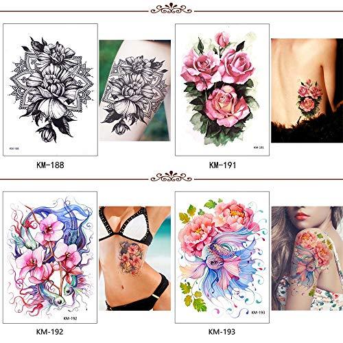 Fleur bird decal adịgboroja ndị inyom Ụmụ nwoke mee n'onwe gị henna art art tattoo kere butterfly tree alaka vivid nwa oge mkpịsị aka 21x15cmx4pc