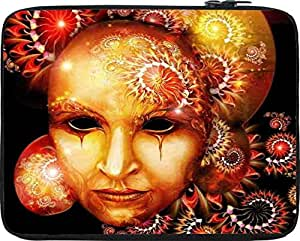"Snoogg fractal mask 2777 15"" inch to 15.5"" inch to 15.6"" inch Laptop netbook notebook Slipcase sleeve Soft case cover bag notebook / netbook / ultrabook carrying case for Macbook Pro Acer Asus Dell Hp Sony Toshiba"