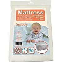 Snibbs Protège-matelas imperméable 60 x 120 cm avec sangles de coin, membrane en TPU respirant, utilisation pour lit de…