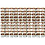 100er Set Sturzglas 230 ml Marmeladenglas Einmachglas Einweckglas To 82 Obst Dekor Deckel