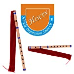 HISCIN ISC Bamboo Natural Flute Bansuri GG Type Transverse Style for Deep Low Frequency Sonorous Notes 17Inch Best Offer...