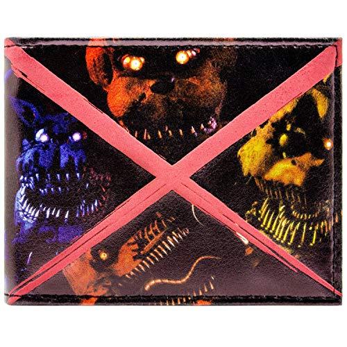 Freddy Fazbears Five Nights Scary Freddy Schwarz Portemonnaie - Freddy Fazbear Kostüm Kinder