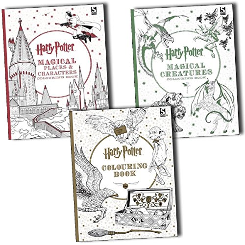 Harry Potter,Harry Potter Magical Creatures and Magical Places Colouring 3 Books (Paperback)