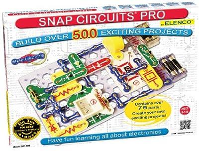 Snap Circuits SC-500 - Juego de circuito eléctrico por Elenco Electronics