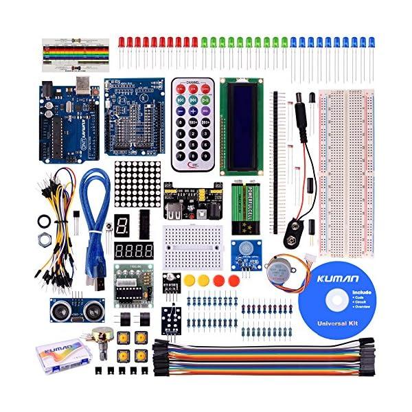 61Lgt4OFZnL. SS600  - Kuman Más Completo y Avanzado de Arduino Mega Starter Kit para Arduino Uno R3 con Guías Tutorial Detallada, MEGA2560, Mega328,5V Motor Paso a Paso, Kit Arduino con Placa