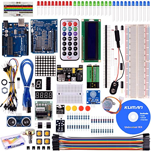 Kuman Project Super Starter Kit for Arduino with German Tutorial UNO R3 Mega2560 Mega328 Nano kits including R3 Board mit deutschem Tutorial K4 (Elektronik-bausätze-projekte)