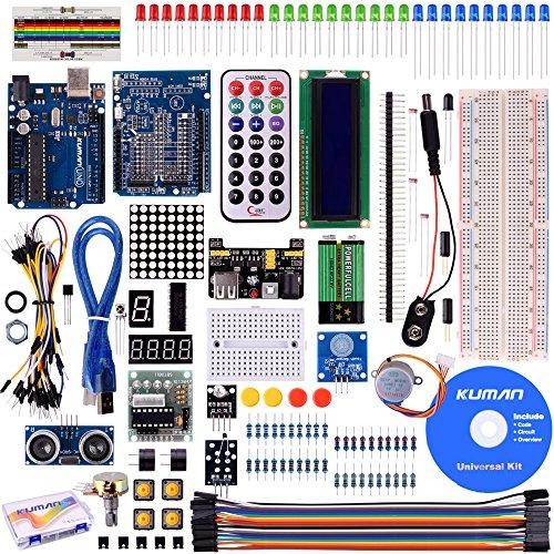 Kuman Progetto Super Starter Kit Con un Manuale Di Utilizzazione In Versione Italiana Per Arduino UNO R3 Mega2560 Mega328 Nano Kits Including R3 Board K4