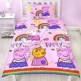 Kinder Bettwäsche Peppa Wutz Pig Mikrofaser 2-tlg. Garnitur für Kinderbett Bettbezug und Kissenbezug