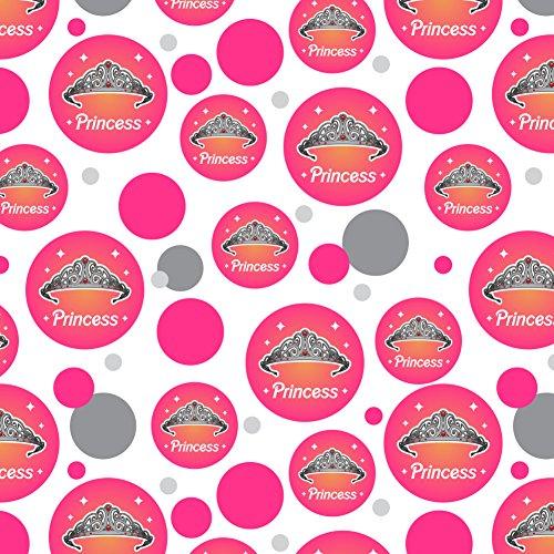 Prinzessin Krone Tiara rosa Hintergrund Premium Geschenkpapier, Rolle